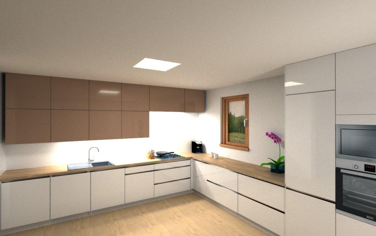 bílá bezúchytková moderní kuchyně
