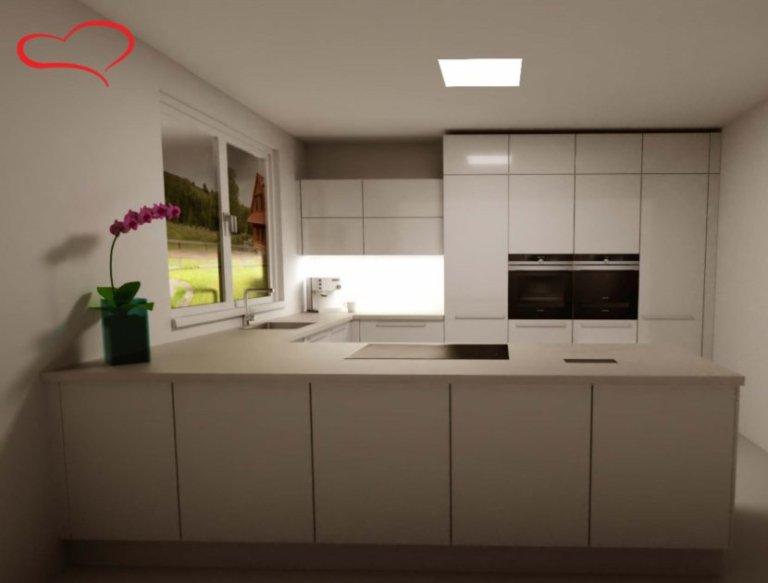 3D návrh kuchyně Oresi
