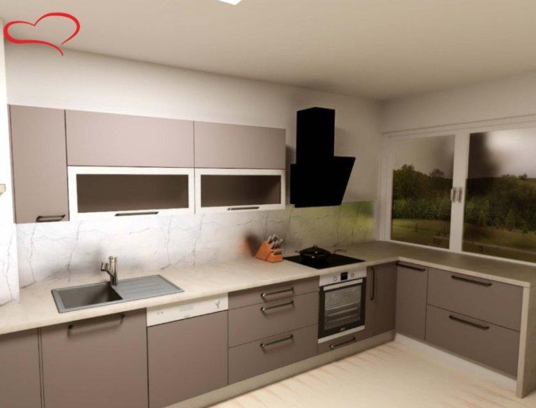 3D návrh kuchyně Oresi Plzeň